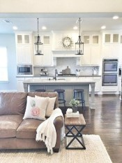 Stunning Farmhouse Kitchen Color Ideas 56