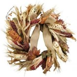 Stylish Fall Wreaths Ideas With Corn And Corn Husk For Door 05