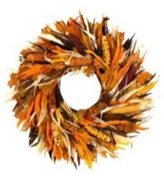 Stylish Fall Wreaths Ideas With Corn And Corn Husk For Door 33