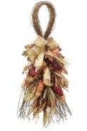 Stylish Fall Wreaths Ideas With Corn And Corn Husk For Door 46