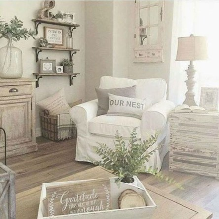 Awesome French Farmhouse Living Room Design Ideas 15