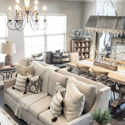 Awesome French Farmhouse Living Room Design Ideas 41