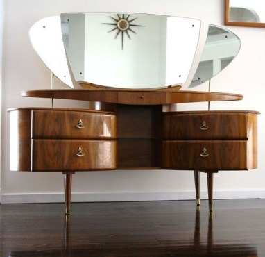 Cozy Mid Century Dressing Tables Vanities Ideas 06
