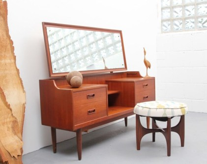 Cozy Mid Century Dressing Tables Vanities Ideas 08