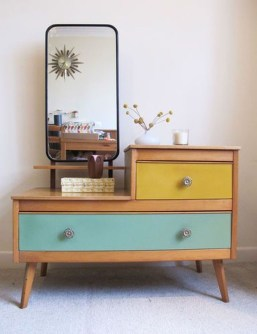 Cozy Mid Century Dressing Tables Vanities Ideas 09