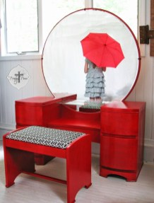 Cozy Mid Century Dressing Tables Vanities Ideas 19