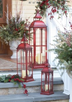 Cozy Rustic Outdoor Christmas Decor Ideas 13