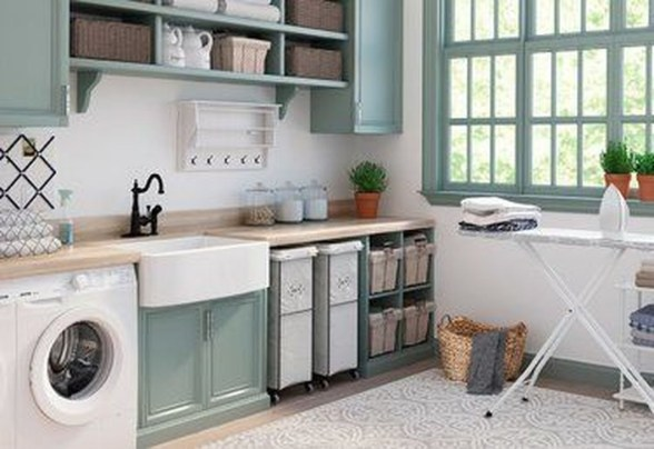 Impressive Bohemian Laundry Room Ideas To Inspire You 21