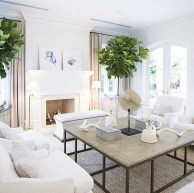 Incredible White Walls Living Room Design Ideas 15