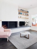 Incredible White Walls Living Room Design Ideas 22