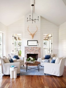 Incredible White Walls Living Room Design Ideas 29