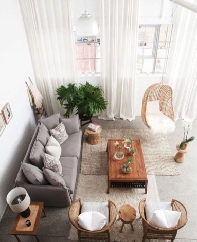 Incredible White Walls Living Room Design Ideas 33