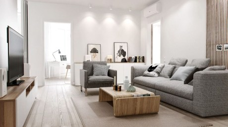 Incredible White Walls Living Room Design Ideas 38