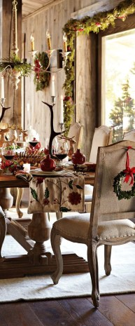 Modern Rustic Christmas Table Settings Ideas 06