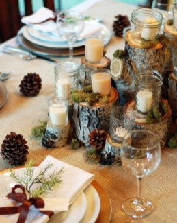 Modern Rustic Christmas Table Settings Ideas 13
