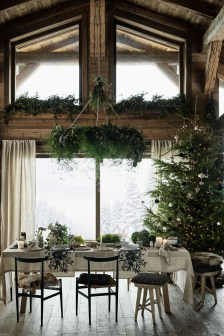 Modern Rustic Christmas Table Settings Ideas 22
