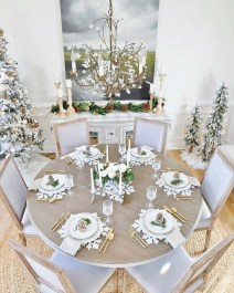 Modern Rustic Christmas Table Settings Ideas 28