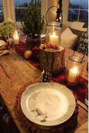 Modern Rustic Christmas Table Settings Ideas 30