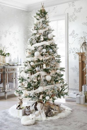 Stylish Decorated Christmas Trees 2018 Ideas 33