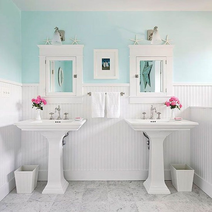 Wonderful Color Combination For Your Bathroom Design Ideas 14