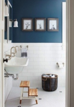 Wonderful Color Combination For Your Bathroom Design Ideas 31