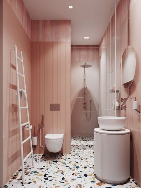 Wonderful Color Combination For Your Bathroom Design Ideas 53