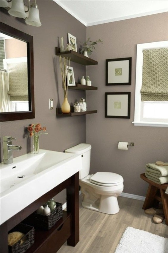 Wonderful Color Combination For Your Bathroom Design Ideas 56