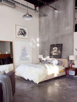 Attractive Industrial Bedroom Design Ideas 26