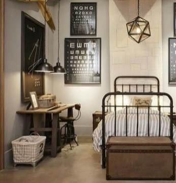Attractive Industrial Bedroom Design Ideas 37