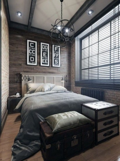 Attractive Industrial Bedroom Design Ideas 43