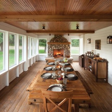 Fantastic Farmhouse Dining Room Design Ideas 44