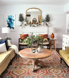 Romantic Rustic Bohemian Living Room Design Ideas 08