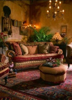 Romantic Rustic Bohemian Living Room Design Ideas 11