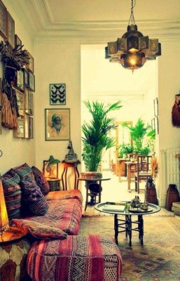Romantic Rustic Bohemian Living Room Design Ideas 20