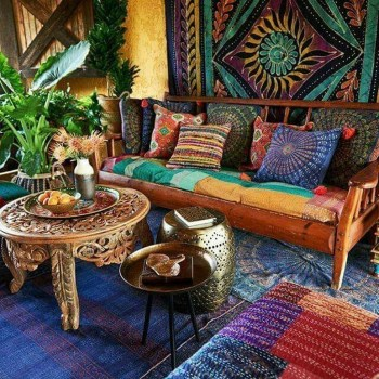 Romantic Rustic Bohemian Living Room Design Ideas 29