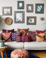 Romantic Rustic Bohemian Living Room Design Ideas 43