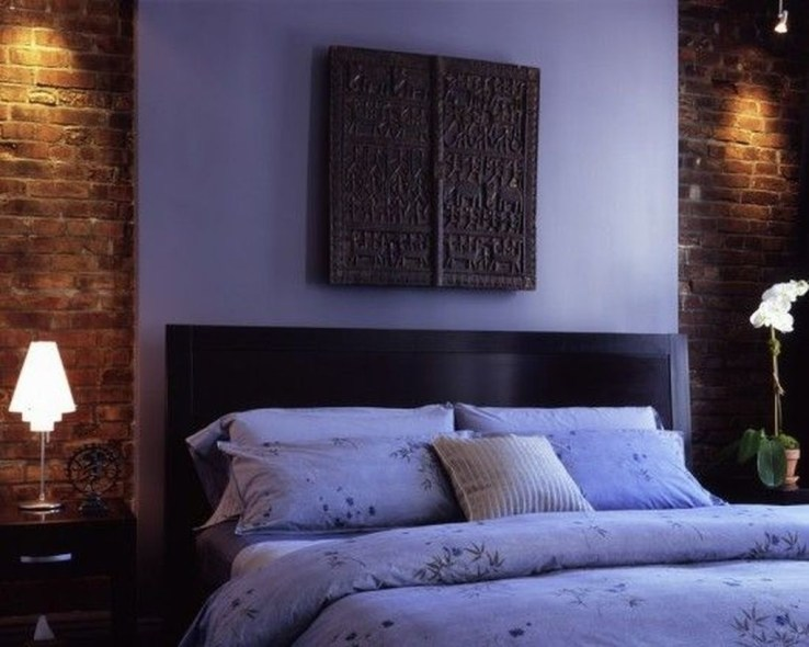 Wonderful Ezposed Brick Walls Bedroom Design Ideas 18