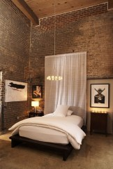 Wonderful Ezposed Brick Walls Bedroom Design Ideas 25