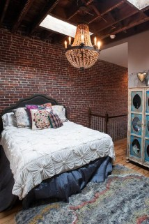 Wonderful Ezposed Brick Walls Bedroom Design Ideas 36