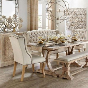 Amazing French Country Dining Room Table Decor Ideas 18