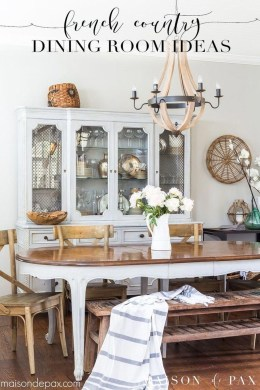 Amazing French Country Dining Room Table Decor Ideas 41
