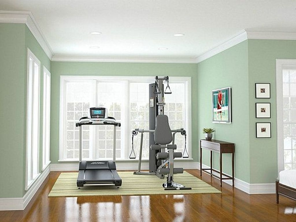 Cheap Home Gym Decorating Ideas For Small Space 29