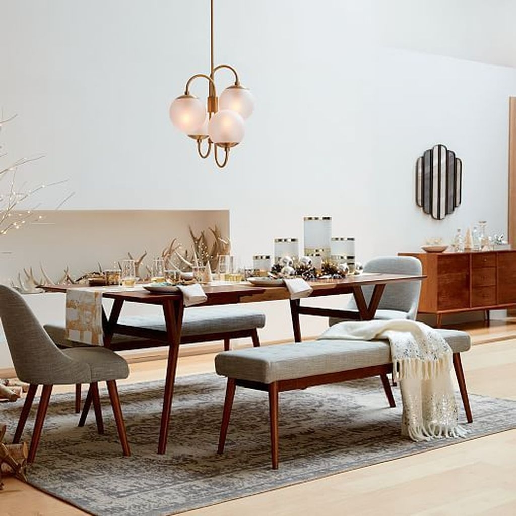 70 Modern Dining Room Ideas For 2019: 30+ Modern Mid Century Dining Room Table Decor Ideas