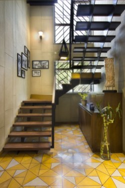 Perfect Living Room Staircase Design Ideas 07
