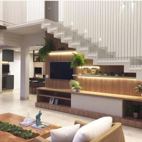 Perfect Living Room Staircase Design Ideas 12