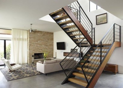 Perfect Living Room Staircase Design Ideas 16