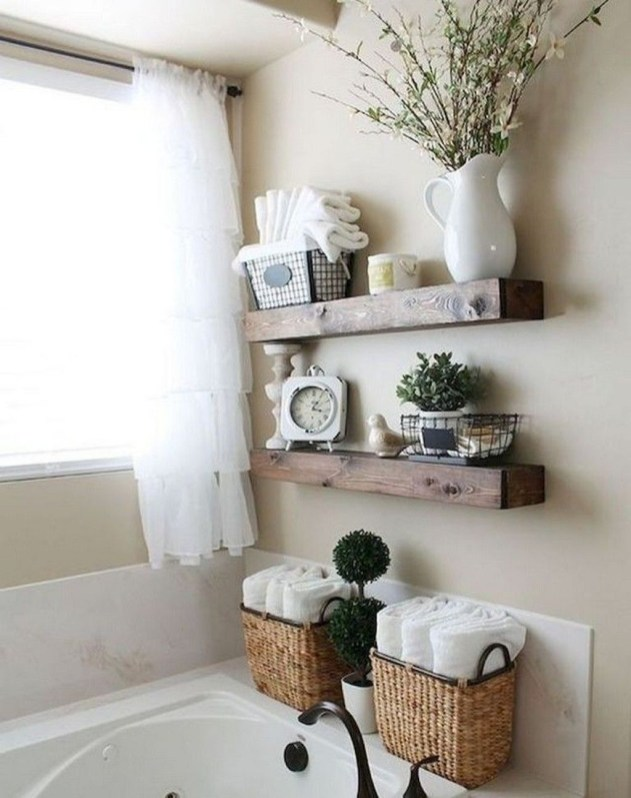 Stunning Bathroom Storage Shelves Organization Ideas 15