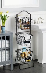 Stunning Bathroom Storage Shelves Organization Ideas 18