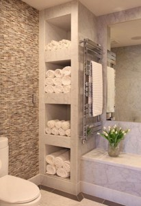 Stunning Bathroom Storage Shelves Organization Ideas 24