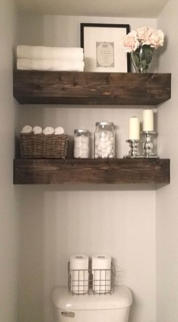 Stunning Bathroom Storage Shelves Organization Ideas 41